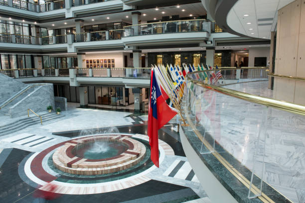 Atrium inside the Atlanta City Hall stock photo