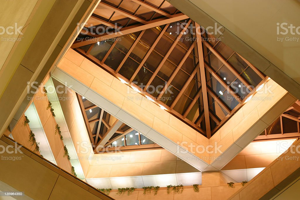 Atrium, Looking Up 1, Dayton, Ohio royalty-free stock photo