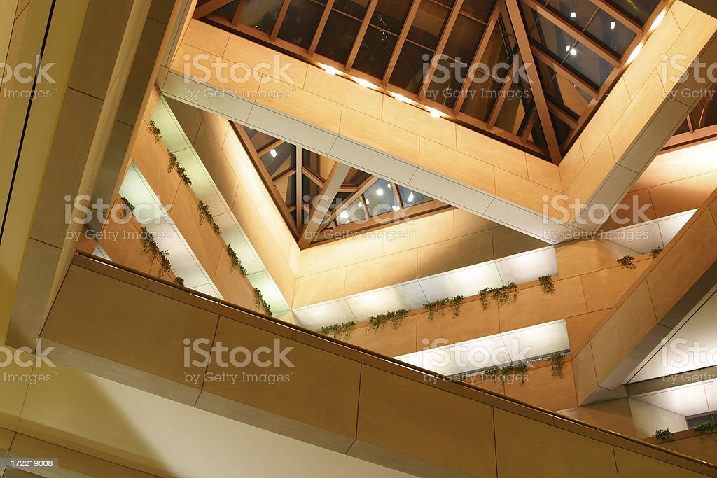 Atrium, Looking Up 5 royalty-free stock photo