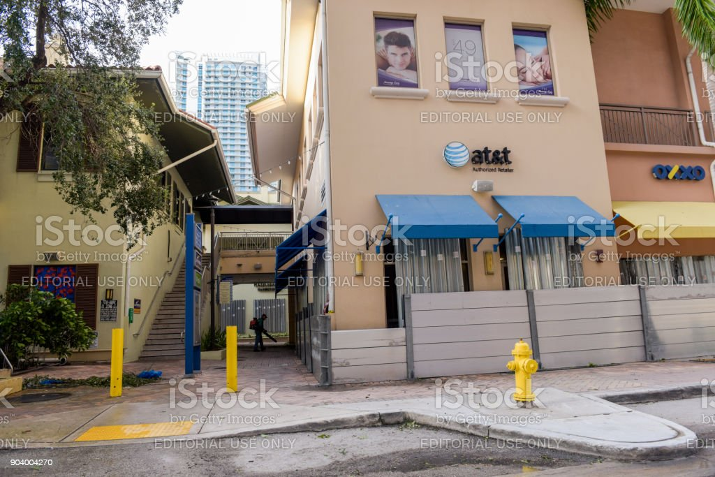 At&t in Brickell stock photo