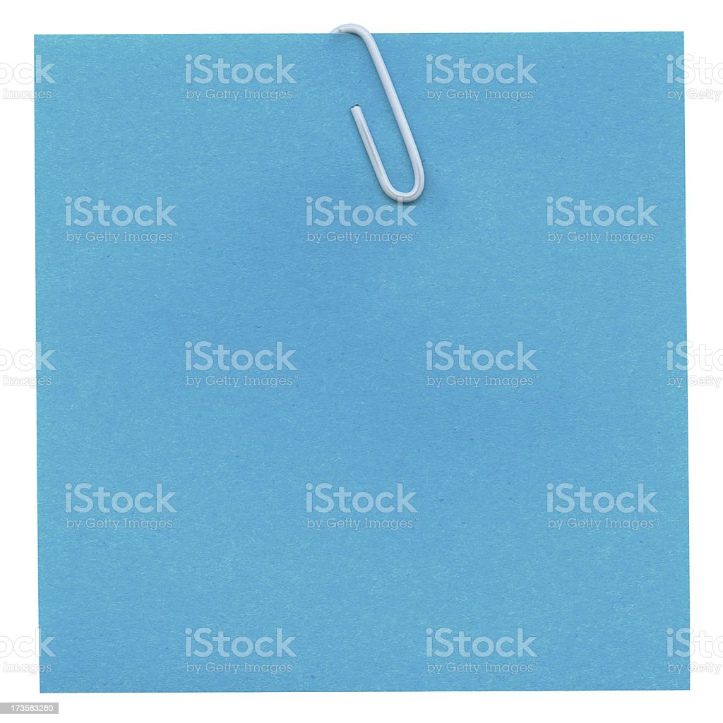 Attached note royalty-free stock photo