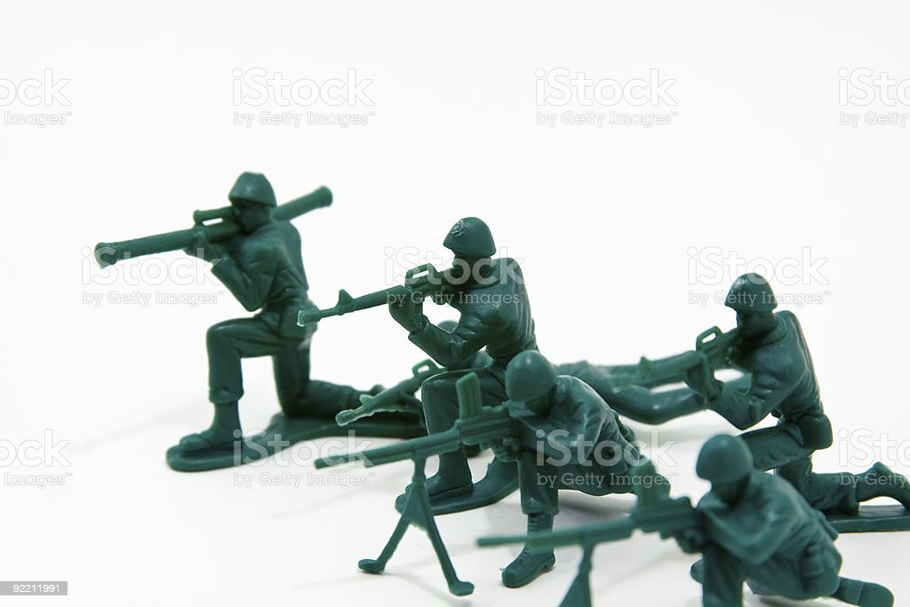 Attack Concept - Plastic Soldiers royalty-free stock photo
