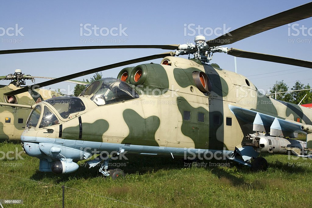 Attack helicopter MI-24 royalty-free stock photo