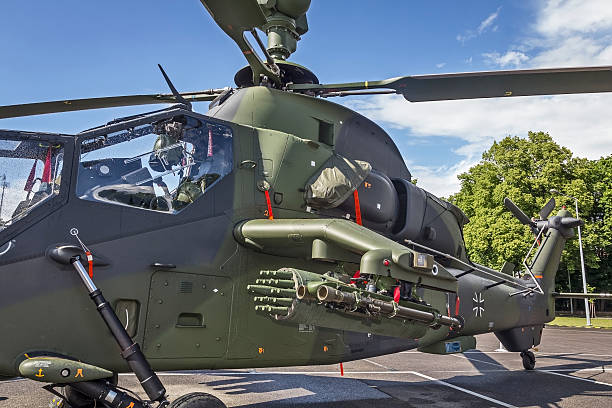 Attack helicopter Tiger UHT stock photo