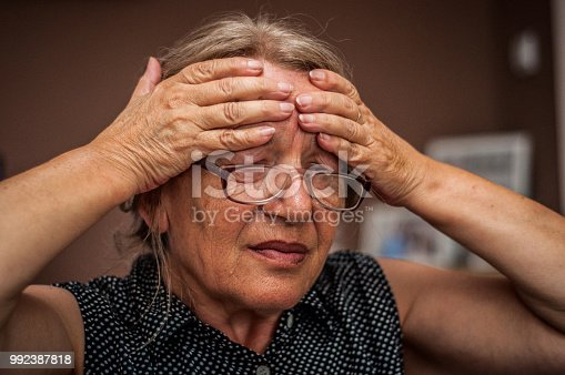 istock Attack of the monster migraine 992387818