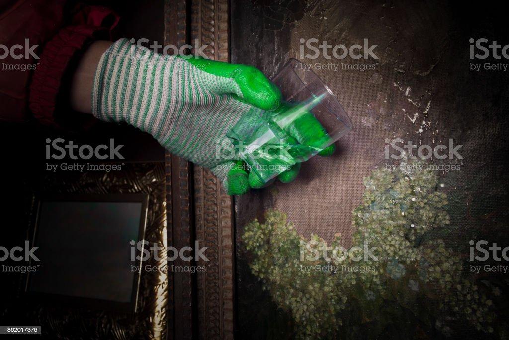Attacking Artwork stock photo