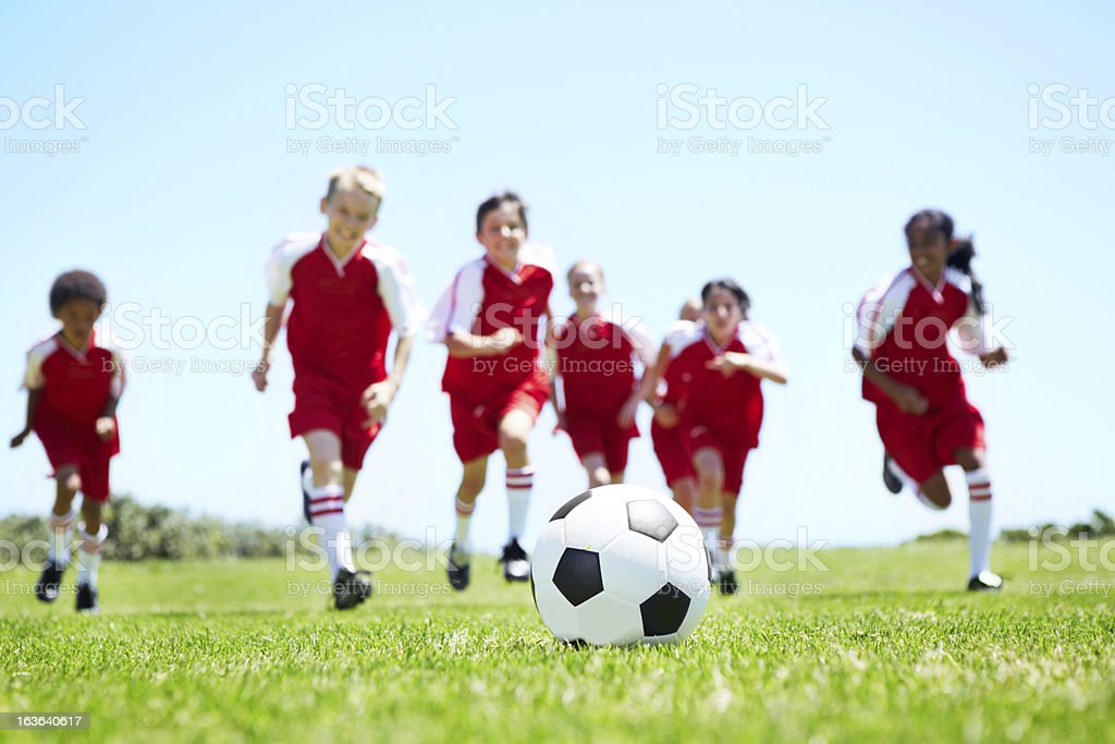 Attacking as a team royalty-free stock photo