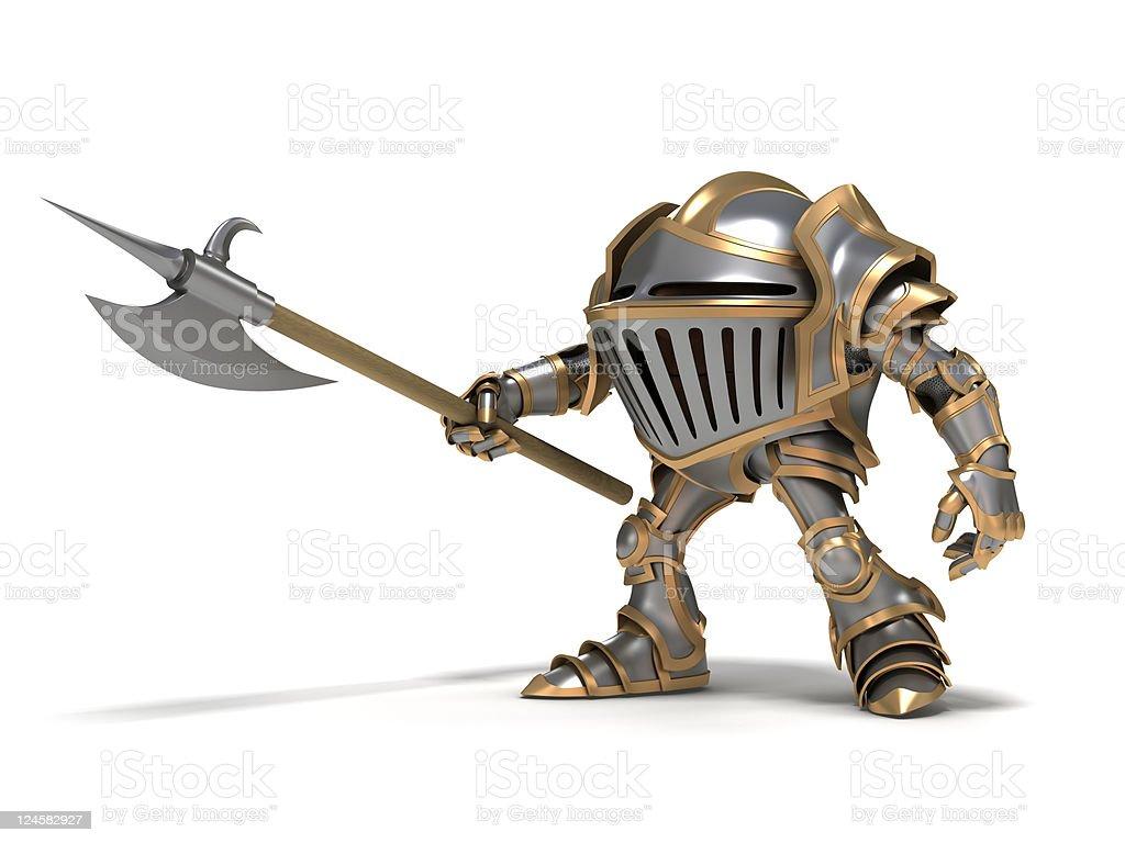Attacking knight stock photo