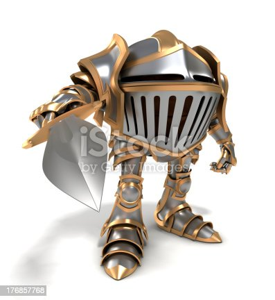 istock Attacking knight 176857768