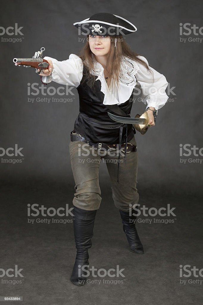 Offensives pirate militärische bei sabre und gunda Lizenzfreies stock-foto