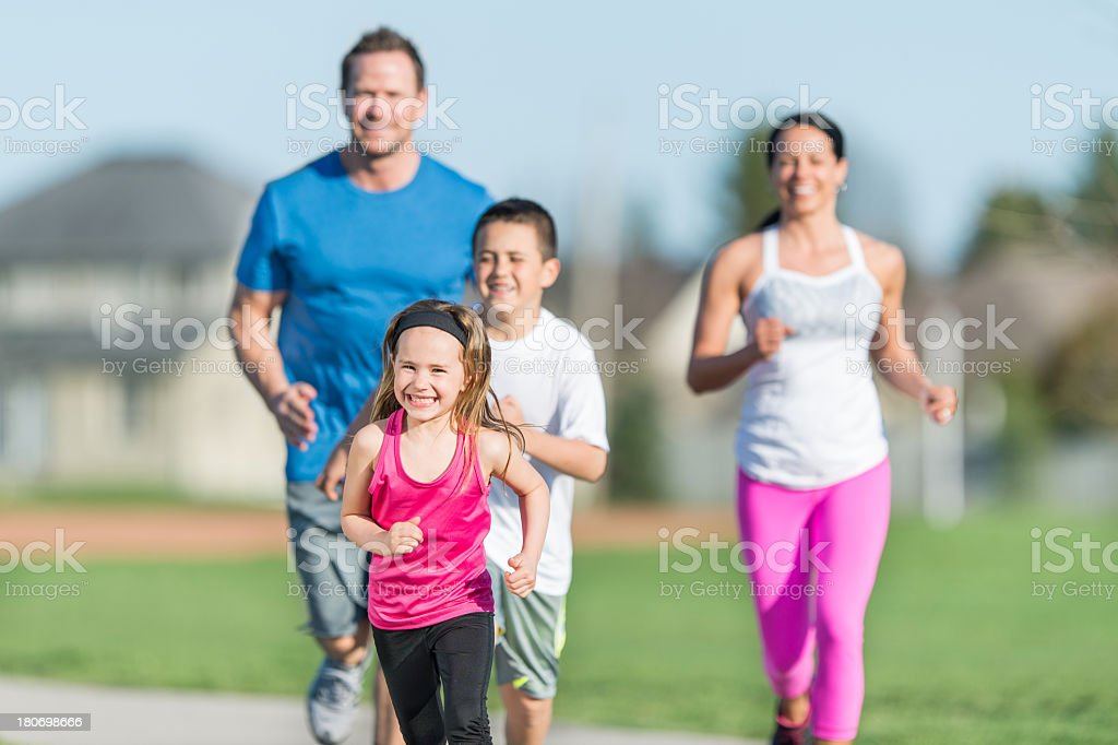 Attactive Family Outside royalty-free stock photo