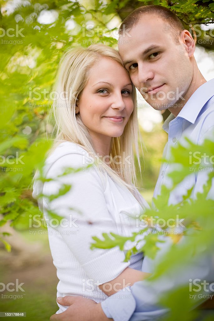 Attarctive young couple cuddling. royalty-free stock photo