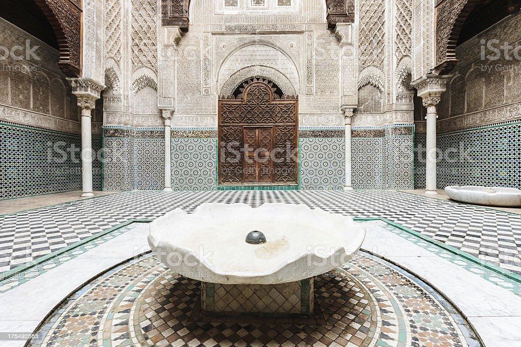 Attarine Madrasa Fez Madressa Morocco royalty-free stock photo