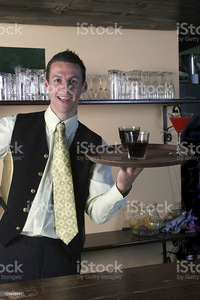 Attendant in a night club royalty-free stock photo
