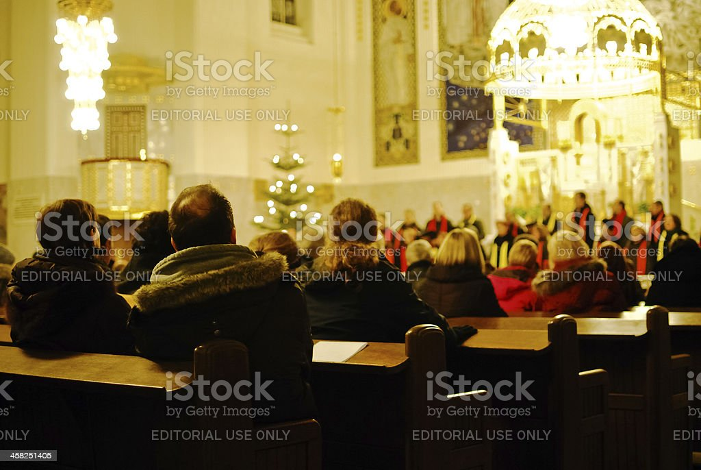 Attending a choir in the advent royalty-free stock photo