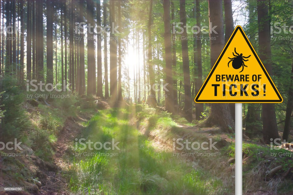Attention beware of ticks royalty-free stock photo