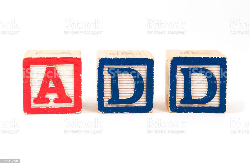 Attention Deficit Disorder royalty-free stock photo