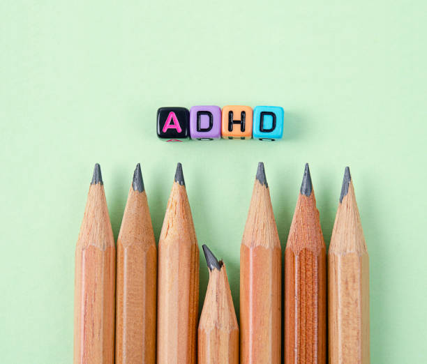 Attention Deficit Hyperactivity Disorder or ADHD concept. stock photo
