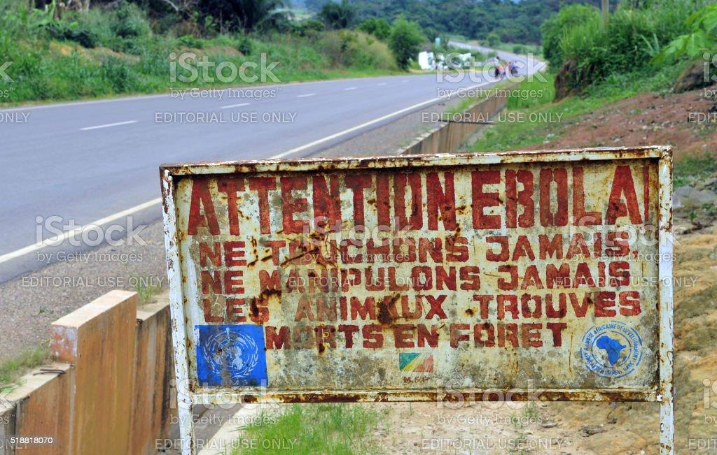 Attenzione, di Ebola! - foto stock