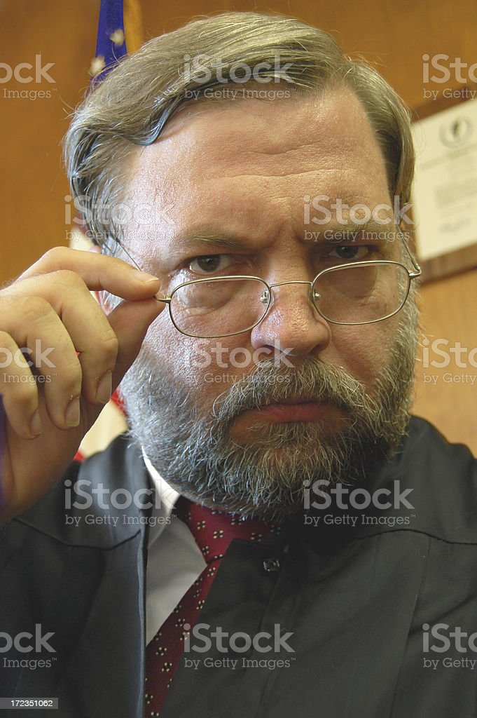 Attention From The Judge royalty-free stock photo