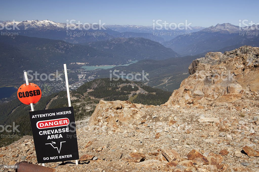 Attention Hikers Sign royalty-free stock photo