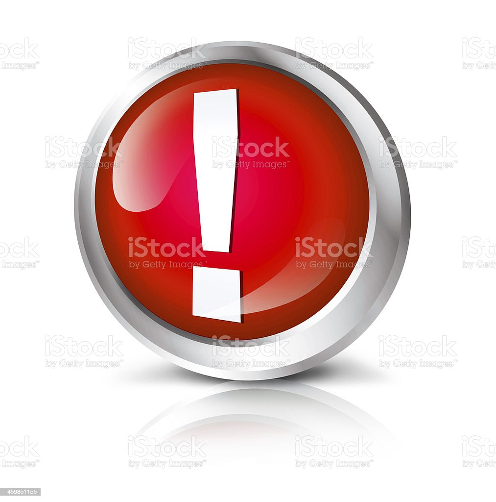 Attention icon royalty-free stock photo