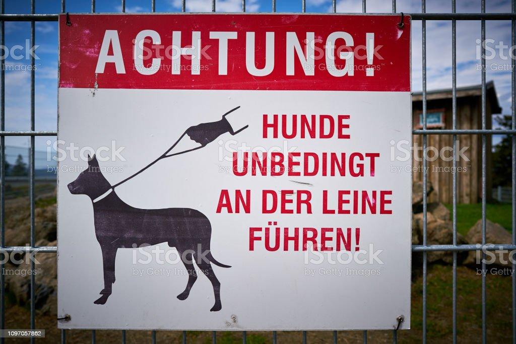 Achtung: halten Sie Hunde an der Leine – Foto