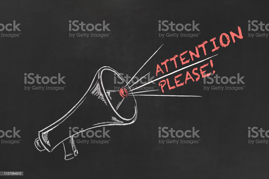 Attention Please! stock photo