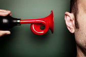 istock Attention Please - Signal Horn Ear Alarm Loud Scare Humor 165776274