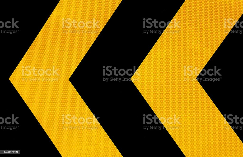 Attention road sign stock photo