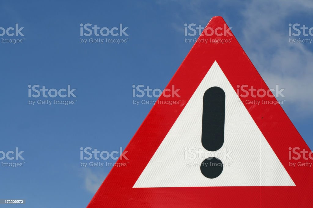 Attention sign stock photo