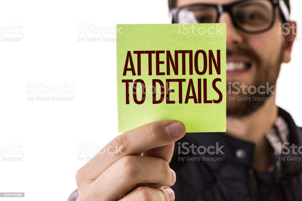Attention to Details stock photo
