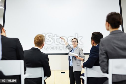 istock Attention to whiteboard 851488266