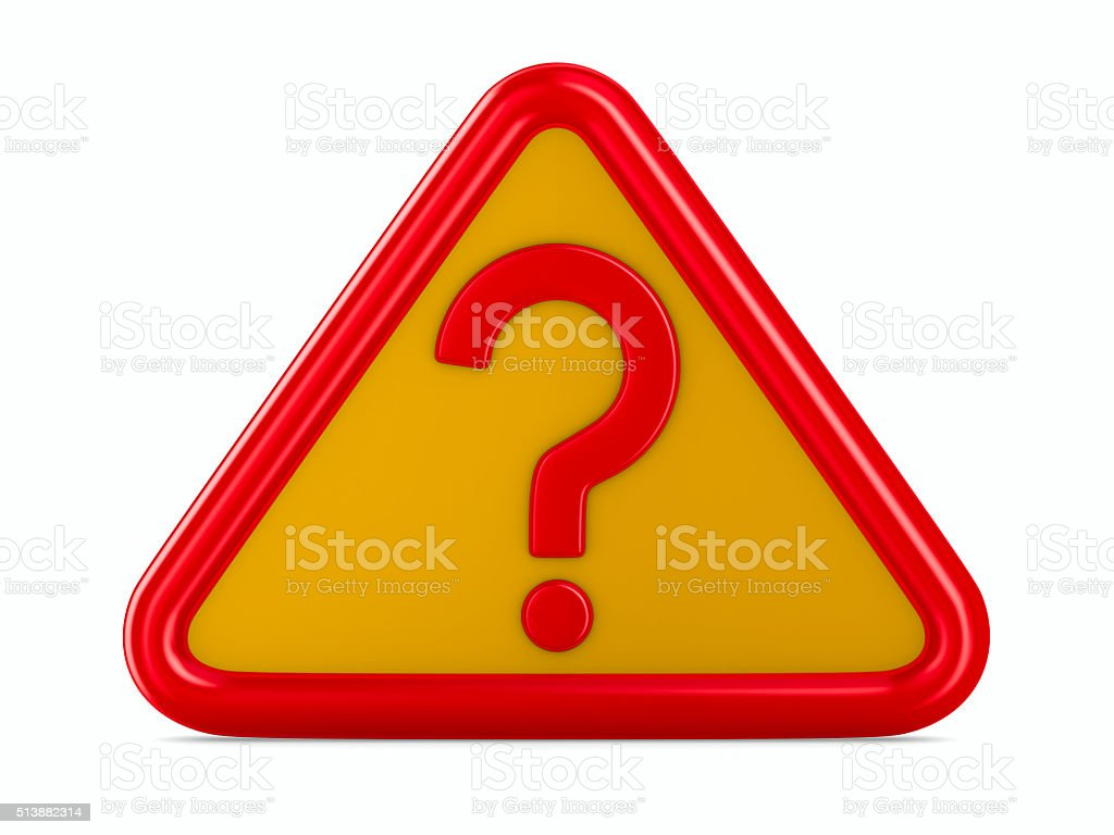 Attention. traffic sign on white background. Isolated 3D image stock photo