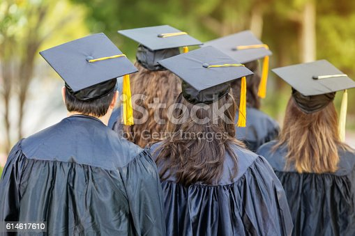 istock Attentive college students during graduation 614617610