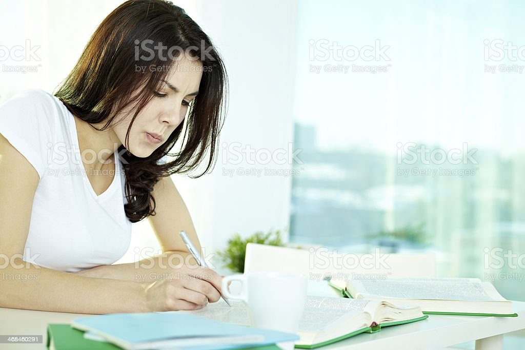 Attentive student royalty-free stock photo