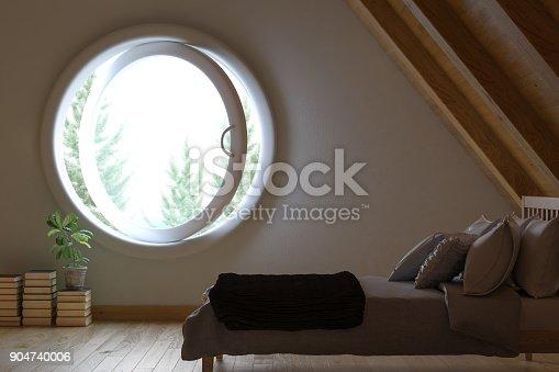 istock Attic Bedroom 904740006