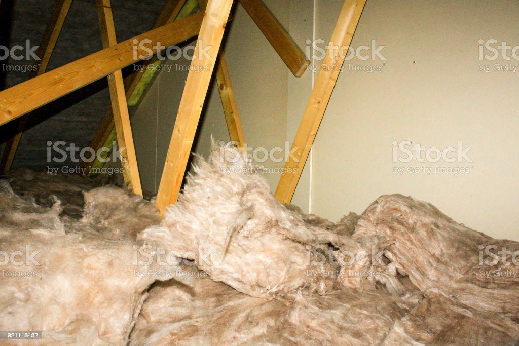 Attic Insulation - foto stock