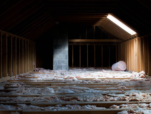 attic attic with dramatic lighting attic stock pictures, royalty-free photos & images