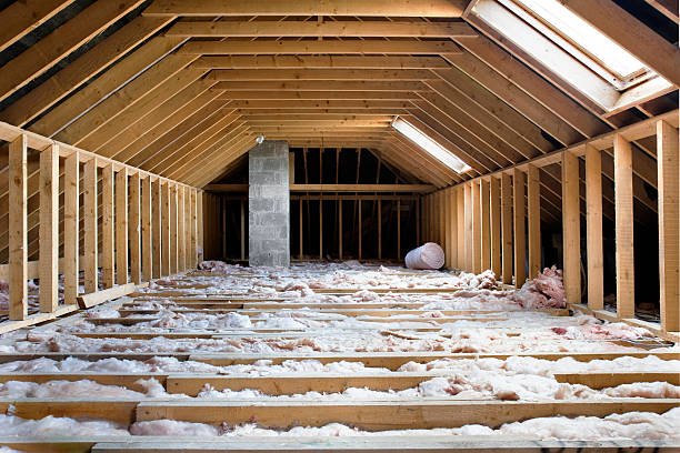 attic attic ready for conversion.2 versions with different lighting: attic stock pictures, royalty-free photos & images