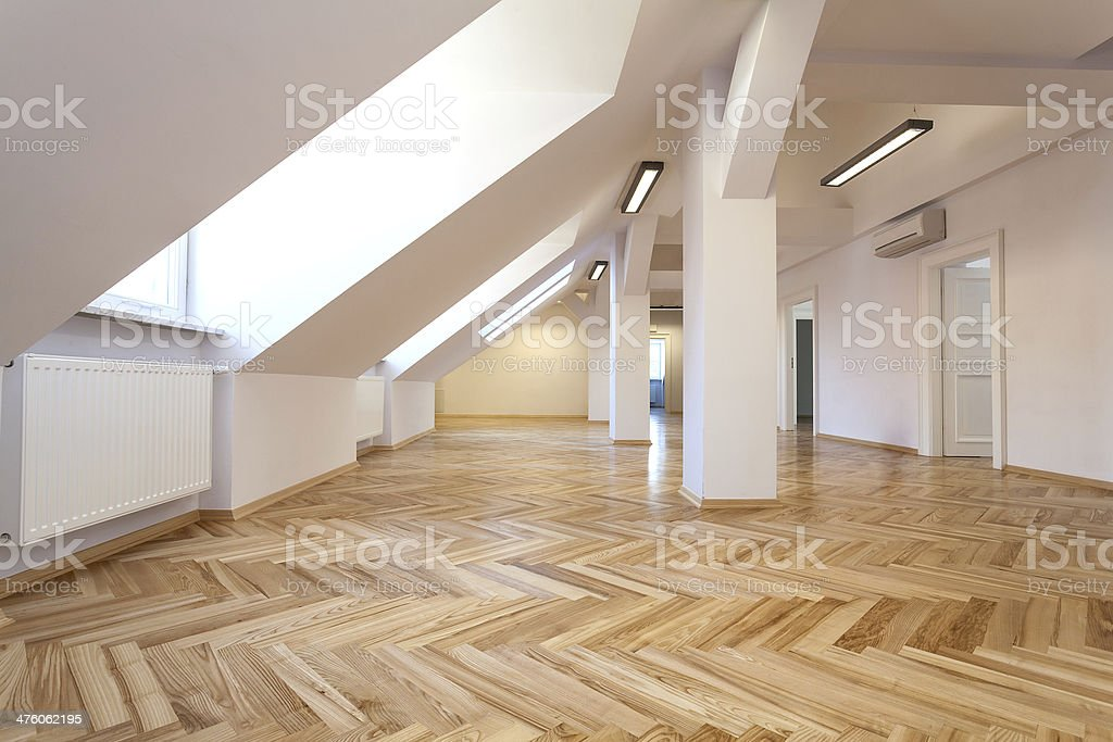 Attic room royalty-free stock photo