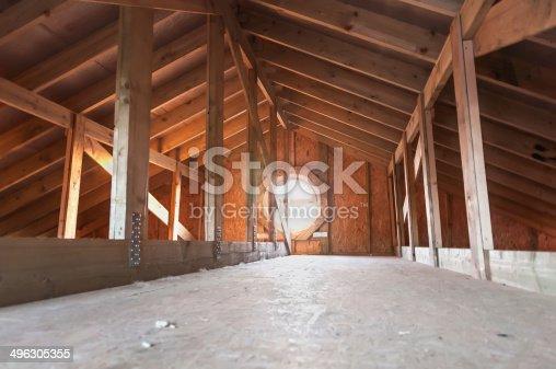 istock attic wood construction 496305355