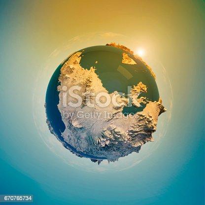 istock Attica Greece 3D Little Planet 360-Degree Sphere Panorama 670765734