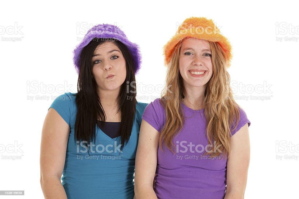 attitude hats teens royalty-free stock photo