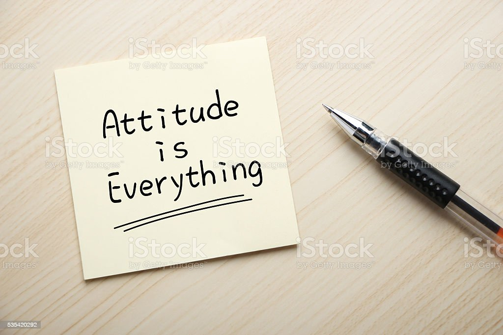 Atitude é tudo - foto de acervo