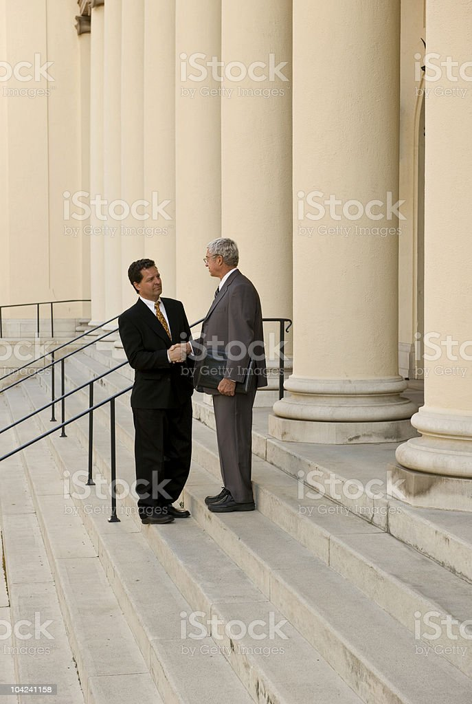 Attorney and Client royalty-free stock photo