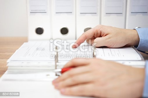 istock attorney is examining business documentation 524152008