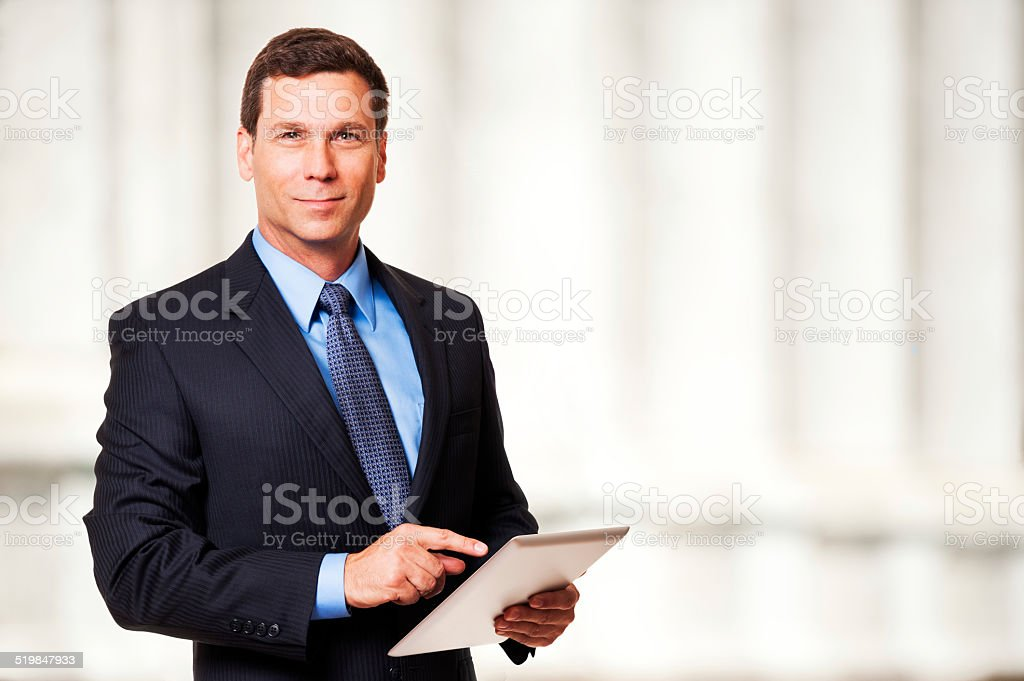 Attorney Lawyer at Courthouse stock photo