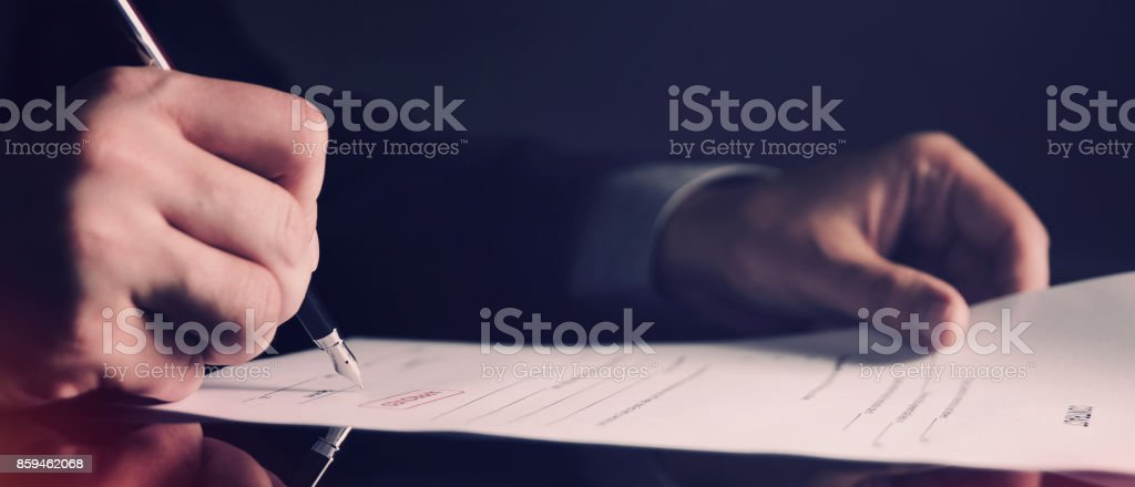 Attorney working in office web banner background stock photo
