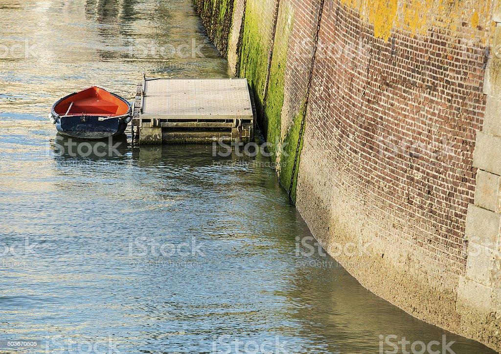 Attracco. Saint-Valery-en-Caux, Normandia, Francia stock photo